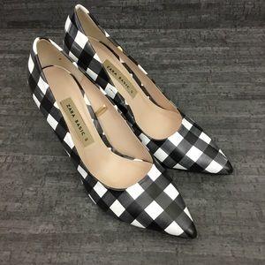 Zara Basic checked heels